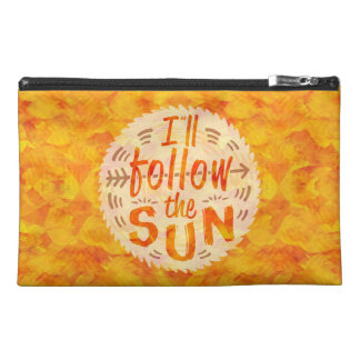 Summer Follow Sun Typography Orange Sunny Painted Travel Accessory Bags