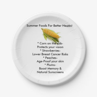Summer Foods Paper Plates! Paper Plate