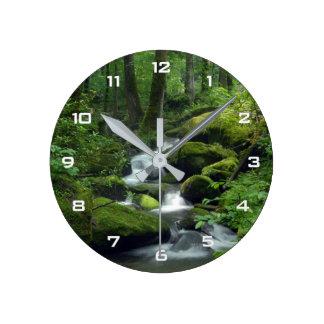 Summer Forest Brook Wall Clock