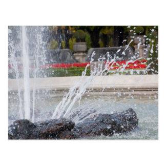 """""""Summer fountain"""" custom postcards"""