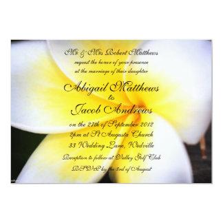 "Summer Frangipani Flowers Wedding Invitation 5"" X 7"" Invitation Card"