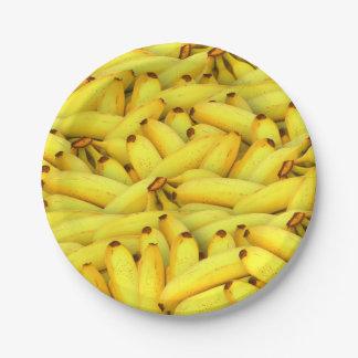 summer fresh bananas fruit photo paper plate