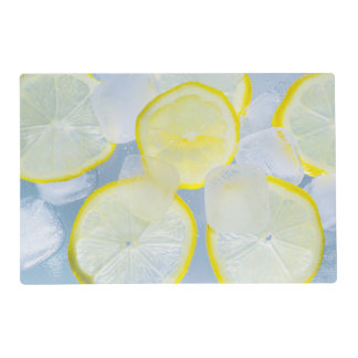 summer fresh lemon ice soda drink photograph placemat