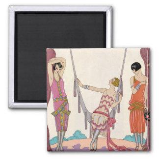 Summer, from 'Gazette du Bon Ton', 1925 2 Inch Square Magnet