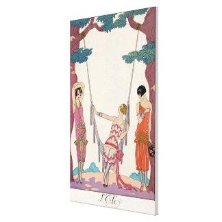 Summer, from 'Gazette du Bon Ton', 1925 Canvas Prints