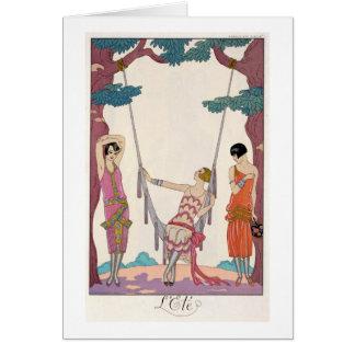 Summer, from 'Gazette du Bon Ton', 1925 Greeting Cards