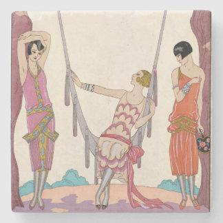 Summer, from 'Gazette du Bon Ton', 1925 Stone Beverage Coaster