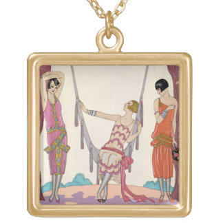 Summer, from 'Gazette du Bon Ton', 1925 Gold Plated Necklace