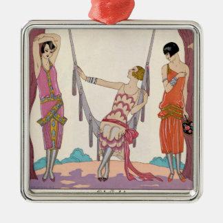 Summer, from 'Gazette du Bon Ton', 1925 Metal Ornament