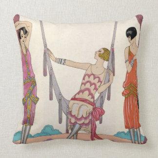 Summer, from 'Gazette du Bon Ton', 1925 Pillow