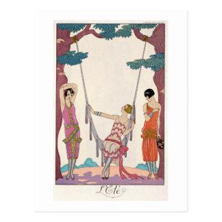 Summer, from 'Gazette du Bon Ton', 1925 Postcard