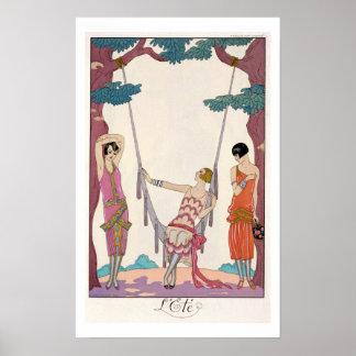 Summer, from 'Gazette du Bon Ton', 1925 Poster