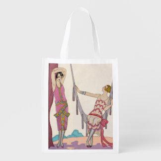 Summer, from 'Gazette du Bon Ton', 1925 Reusable Grocery Bags