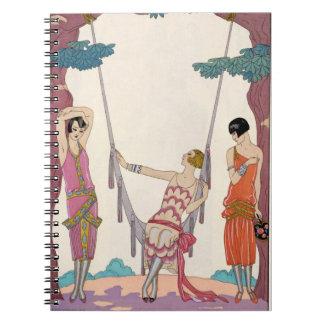 Summer, from 'Gazette du Bon Ton', 1925 Spiral Notebook