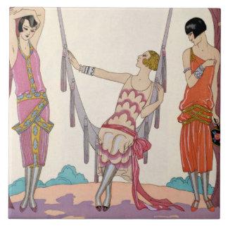 Summer, from 'Gazette du Bon Ton', 1925 Ceramic Tiles