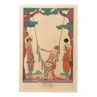 Summer, from 'Gazette du Bon Ton', 1925 Wood Print