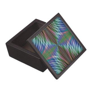 Summer Fronds Fractal Premium Keepsake Boxes