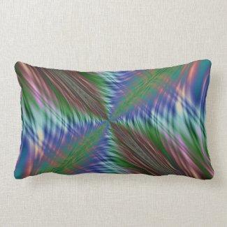 Summer Fronds Fractal Throw Pillow