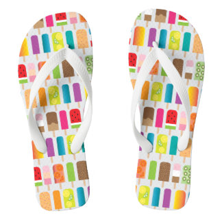 Summer Frozen Treats Popsicles and Ice Cream Bars Flip Flops