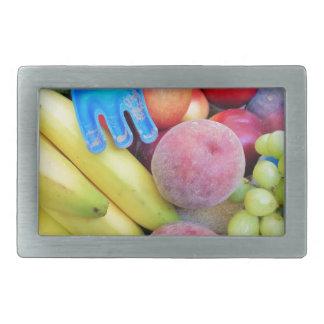Summer Fruit, Food, Melon, Grapes, Peaches, Banana Belt Buckle