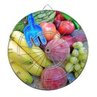 Summer Fruit, Food, Melon, Grapes, Peaches, Banana Dart Board