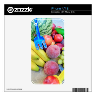 Summer Fruit, Food, Melon, Grapes, Peaches, Banana iPhone 4S Decal