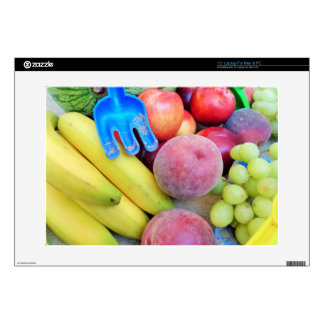 Summer Fruit, Food, Melon, Grapes, Peaches, Banana Laptop Decal