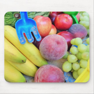 Summer Fruit, Food, Melon, Grapes, Peaches, Banana Mouse Pad