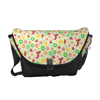 Summer fruit - melon lime lemon kiwi fresh pattern courier bags