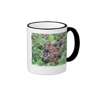 Summer Fruits (4852) Black Ringer Mug 11oz