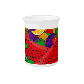Summer fruits drink pitcher