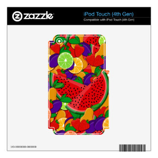 Summer fruits iPod touch 4G skins