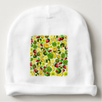 Summer Fruits Juicy Pattern Baby Cotton Beanie
