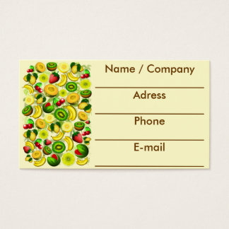 Summer Fruits Juicy Pattern Business Cards