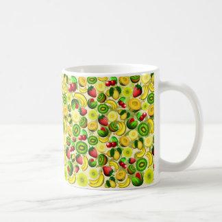 Summer Fruits Juicy Pattern Classic White Mug