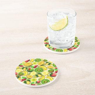 Summer Fruits Juicy Pattern Drink Coaster