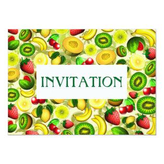 Summer Fruits Juicy Pattern Invitation Card