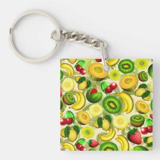 Summer Fruits Juicy Pattern Keychain