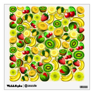 Summer Fruits Juicy Pattern Square Wall Decal