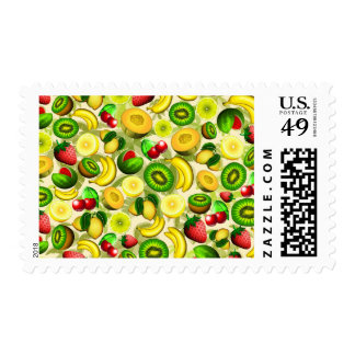 Summer Fruits Juicy Pattern Stamp