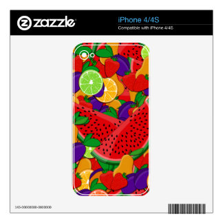 Summer fruits skins for iPhone 4