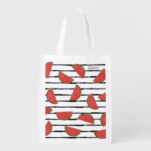 Summer Watermelons Mesh Grocery Bags