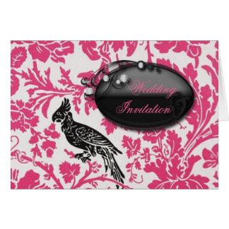 summer Fuchsia floral Tropical Wedding Card