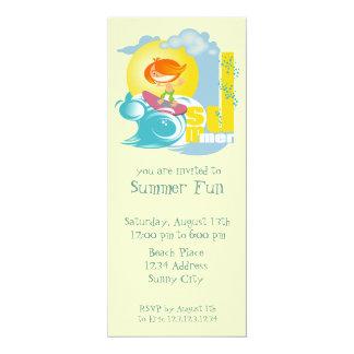 "Summer Fun 4"" X 9.25"" Invitation Card"