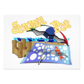Summer Fun at the Beach Custom Invitations