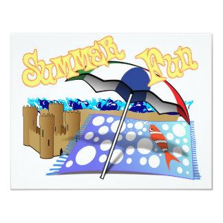 Summer Fun at the Beach 4.25x5.5 Paper Invitation Card