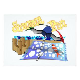 Summer Fun at the Beach 5x7 Paper Invitation Card