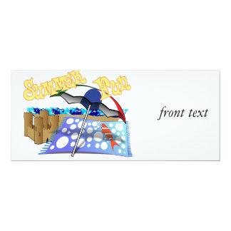 Summer Fun at the Beach 4x9.25 Paper Invitation Card
