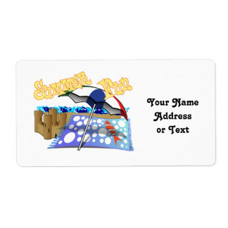 Summer Fun at the Beach Personalized Shipping Labels