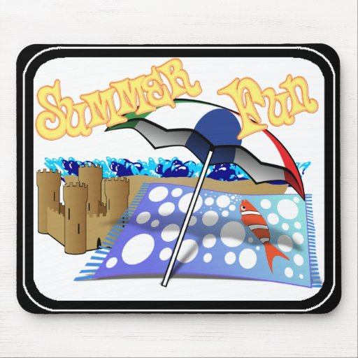 Summer Fun at the Beach Mouse Pads